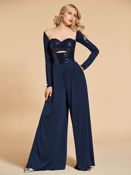 A-Line Long Sleeves Sequins Evening Jumpsuits & Designer Dresses from china