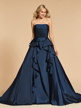 A-Line Backless Strapless Evening Dress & fairytale Designer Dresses