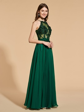 A-Line Appliques Sashes Lace Prom Dress