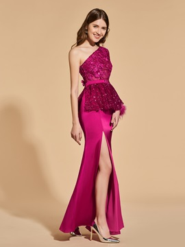Appliques Lace Beading A-Line Prom Dress