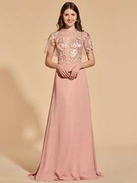 A-Line Scoop Lace Button Prom Dress & vintage Designer Dresses