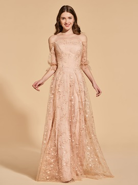 A-Line Empire Off-the-Shoulder Lace Prom Dress & Designer Dresses under 500
