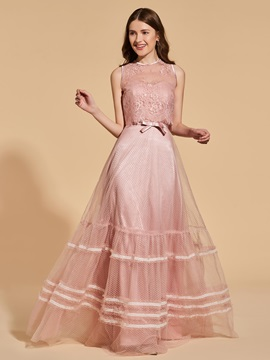 Scoop Lace Button Sashes Prom Dress & modern Designer Dresses