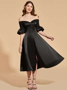 A-Line Off-the-Shoulder Split-Front Cocktail Dress & Designer Dresses 2012