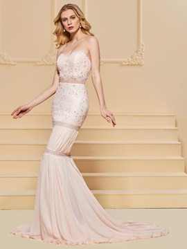 Trumpet Lace Beading Sweetheart Evening Dress & vintage style Designer Dresses