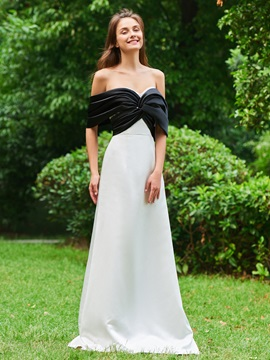 A-Line Off-the-Shoulder Draped Prom Dress & attractive Designer Dresses