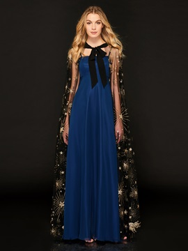 A-Line Halter Appliques Long Sleeves Evening Dress & Designer Dresses on sale