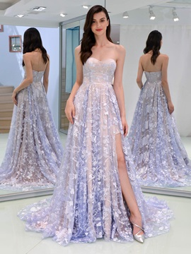 A-Line Sweetheart Lace Evening Dress & Designer Dresses from china