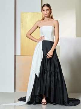 A-Line Strapless Draped Pleats Sashes Evening Dress & Designer Dresses online