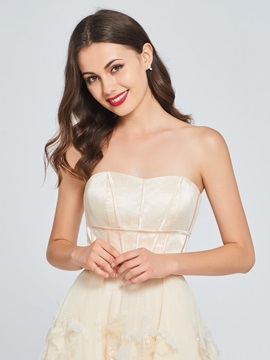 A-Line Appliques Sweetheart High Low Homecoming Dress