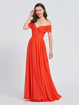 Off-the-Shoulder Pleats A-Line Prom Dress & Designer Dresses from china