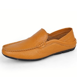 Solid Color Thread PU Slip-On Tod's
