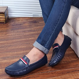Ruched Slip-On Men's Loafers