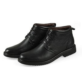 Solid Color Round Toe PU Men's Workboots