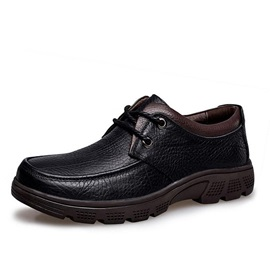 British PU Lace-Up Men's Casual Shoes