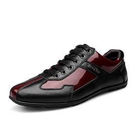 British Color Block Lace-Up Casual Shoes