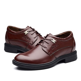 Solid Color Round Toe Lace-Up Casual Shoes