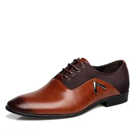 Brush-Off PU Pointed Toe Men