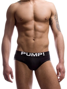 Letter Plain Low-Waist Men's Briefs