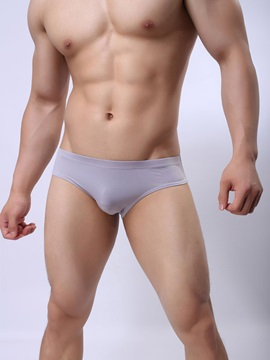 Sexy Seamless Thin Soft Ice Silk Men's Briefs