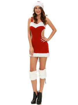 Patchwork Backless Suspenders Christmas Costume