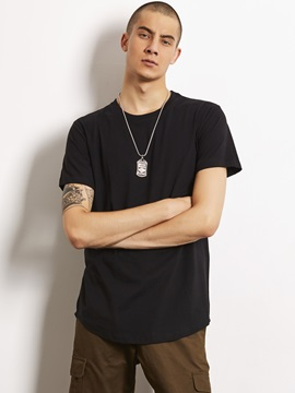Plain Arc Simple Men's Casual T-Shirt