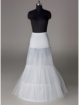 Pretty Fish Tailing Two Layers Two Steel Loops Wedding Petticoat & Faster Shipping Sale for sale