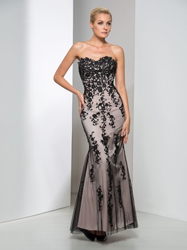 Elegant Sweetheart Sheath Appliques Long Evening Dress & vintage style Faster Shipping Sale