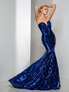 Shining Sweetheart Mermaid Sequined Evening Dress & Faster Shipping Sale under 300