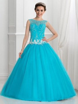 Glamorous Appliques Beading Ball Gown Quinceanera Dress & amazing Faster Shipping Sale