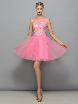 Lovely Straps Appliques Beading Short Homecoming Dress & Faster Shipping Sale for sale