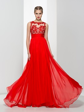 Amazing Straps Appliques Backless Red Evening Dress & unique Faster Shipping Sale