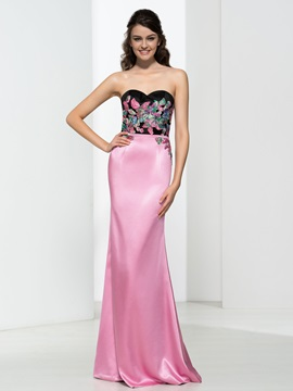 Sweetheart Appliques Hollow Sheath Evening Dress & amazing Faster Shipping Sale