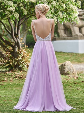 Spaghetti Straps Sequins Bridesmaid Dress & Faster Shipping Sale for sale