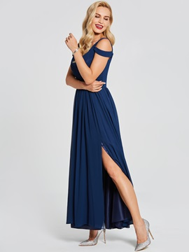 Cheap Straps Split-Front Long Evening Dress