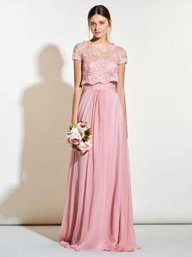 Beautiful Sweetheart Long Bridesmaid Dress With Jacket & affordable Faster Shipping Sale
