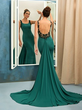Unique Mermaid Square Appliques Court Train Evening Dress & Faster Shipping Sale for sale