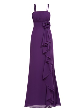 Strapless Pleats Flower Ruffles Sheath Evening Dress & romantic Faster Shipping Sale