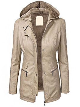 Stylish Zipper Pockets Thick Jacket