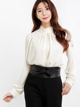 Chic Stand Collar Chiffon Blouse