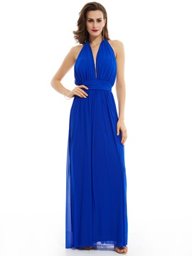 Halter Neck Backless A Line Floor-Length Evening Dress & Faster Shipping Sale on sale