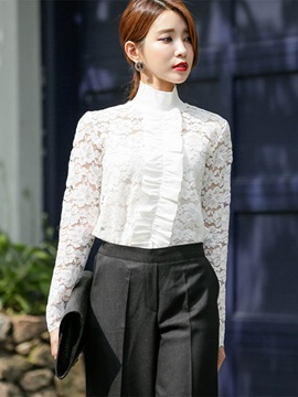 Chic Frill Patchwork Blouse