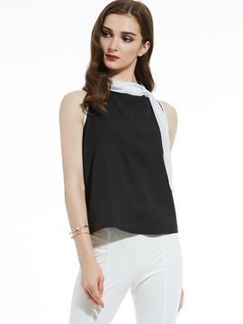 Beading Decorative Sleeveless T-Shirt