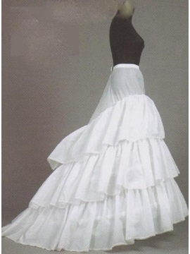 Charming White Court Train Wedding Petticoat & Faster Shipping Sale under 100