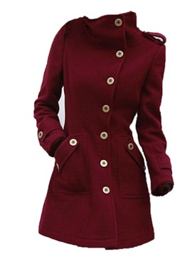 Cool Button Decoration Pocket Slim Trench Coat