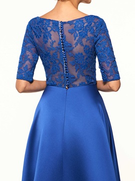 Half Sleeves Lace Mother Of The Bride Dress