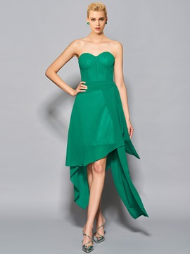 Unique A-Line Sweetheart Pick-Ups Asymmetry Cocktail Dress