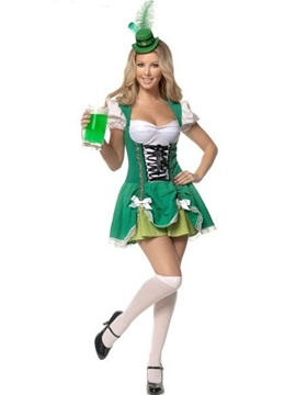 Sexy Women's French Maid Costume with Bow
