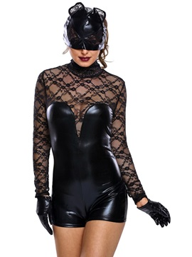 Mysterious Hollow Long Sleeve Holloween Costume