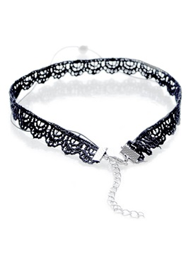 Double Layers Lace Pearl Retro Necklace